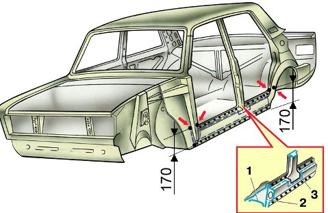 Как выглядит замена порогов автомобиля