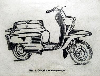 Рисунок мотороллера Вятка