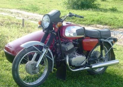 Фото мотоцикла Ява с коляской